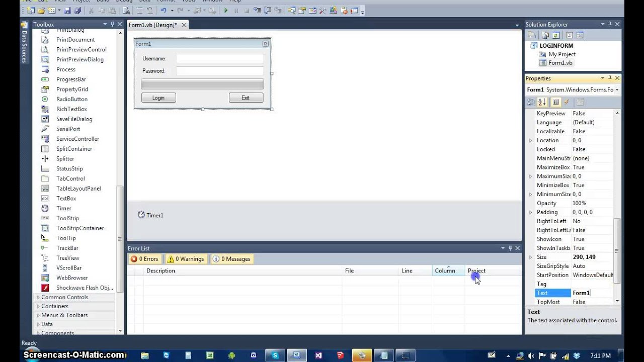 How to make Login form that open another form in Visual Basic ...