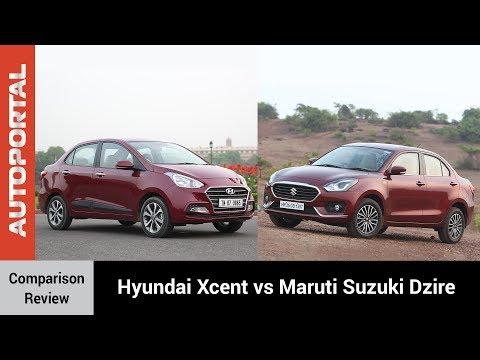 Hyundai Xcent vs Maruti Suzuki Dzire Test Drive Comparison Review - Autoportal