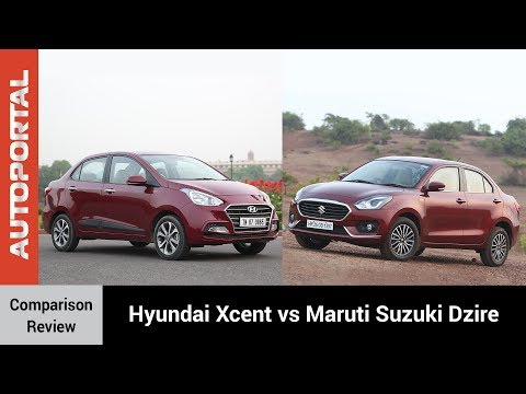 Hyundai Xcent vs Maruti Suzuki Dzire Test Drive Comparison Review - Autoportal