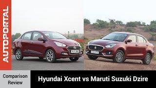 Hyundai Xcent vs Maruti Suzuki Dzire Test Drive Comparison Review Autoportal