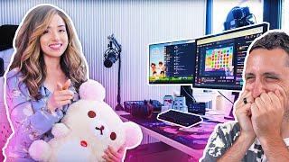Reacting to Pokimane's new Gaming/Streaming Setup!