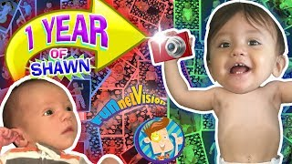 1 YEAR OF SHAWN! One Picture Daily Vlog 🎁 Baby's First Birthday FUNnel Vision Learning Candles