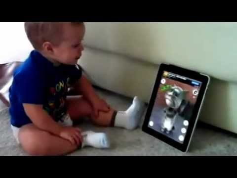 Funny Baby vs. Tom The Talking Cat, on an iPad - Funny Videos