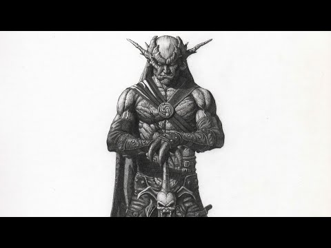 Drawing Kain From The Legacy of Kain franchise | Time-Lapse | Drawnomix