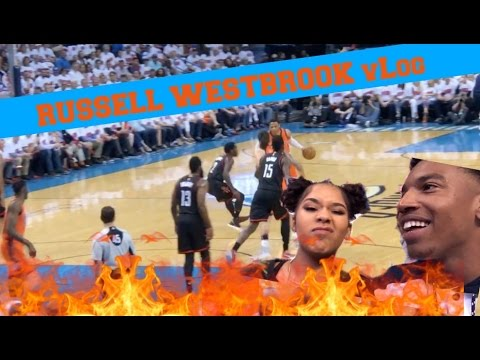 RUSSELL WESTBROOK KNOWS ME AND ZIAS !!!! NBA Playoffs Game 4 OKC vs HOUSTON vLog