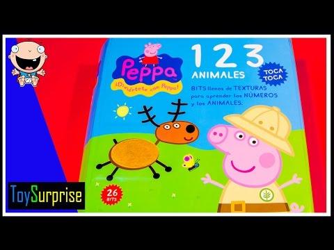 Números Peppa Pig. Aprendiendo los números con Pepa contando en español animales.