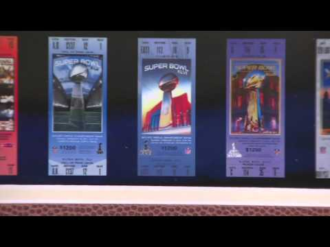 Super Bowl Tickets Frame With Minted Coins On QVC