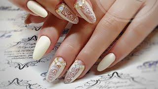 простой и быстрый дизайн ногтей. дизайн ногтей вензеляю Свадебный дизайн ногтей