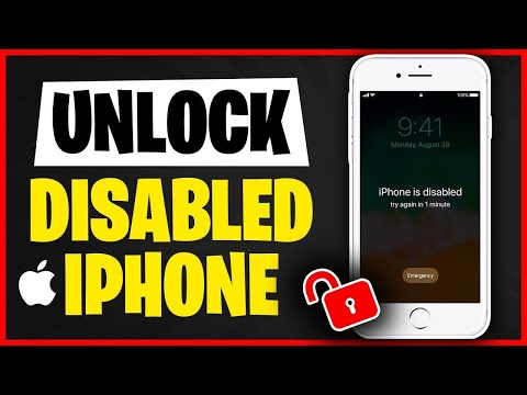 How To Unlock Any Disabled Ipad, IPhone, IPod Touch