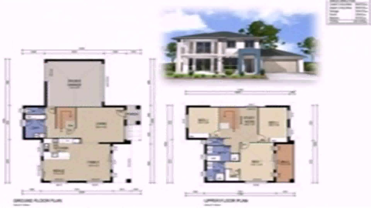 Elegant Two Storey House Floor Plan With Dimensions   YouTube