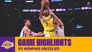HIGHLIGHTS | Anthony Davis (40 pts, 20 reb in 31 min)  vs. Grizzlies