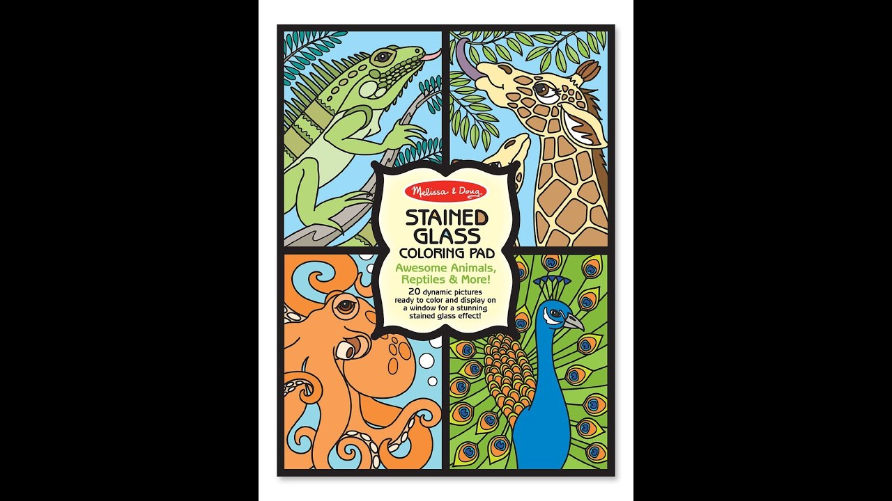 Flip Through Melissa & Doug Stained Glass Colouring Pad Coloring Book