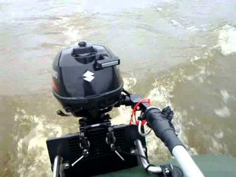 Suzuki outboard motor on old town camper 16 canoe for Suzuki 2 5 hp motor