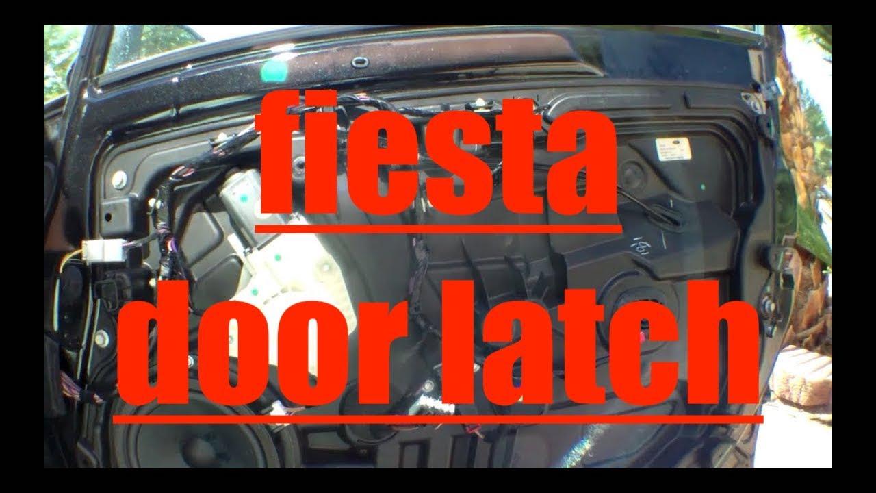 FOLLOW REPLACEMENT front passenger door latch Ford Fiesta