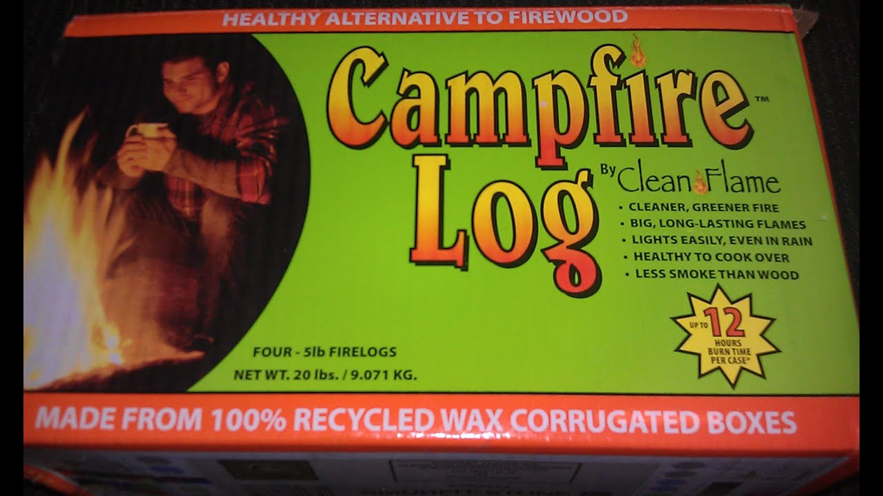 campfire log by cleanflame vs duraflame log youtube