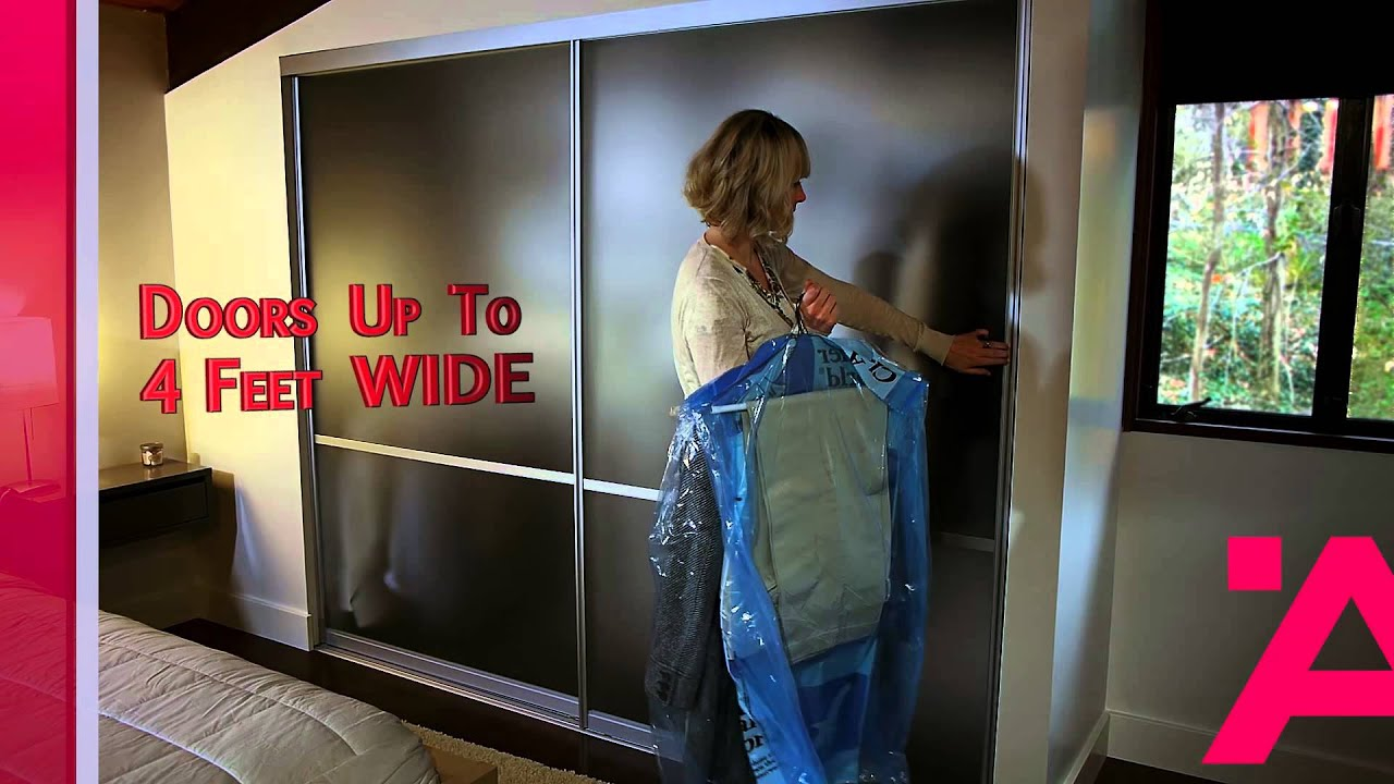Hafele S Aluflex Aluminum Frame Sliding Doors Youtube