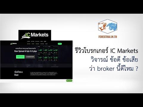 รีวิวโบรกเกอร์ IC Markets วิจารณ์ ข้อดี ข้อเสีย ว่า broker นี้ดีไหม ?