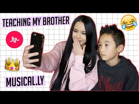 Teaching My Brother How To Make A Musical.ly!   Megan Mauk ♡