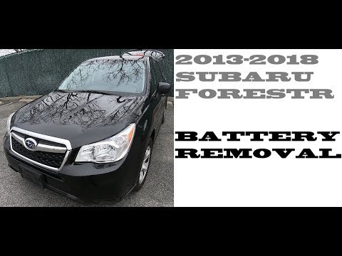 How to replace change battery in Subaru Forester 2013-2018