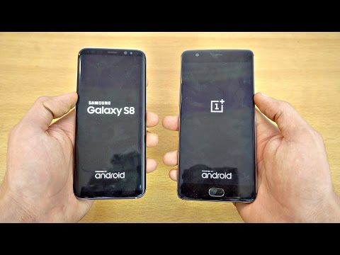 Samsung Galaxy S8 vs OnePlus 3T - Speed Test! (4K)