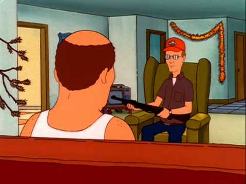 Dale Gribble has Bill Dauterive on suicide watch