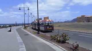 Corralejo, the little train make the tour of the village.