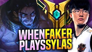 FAKER is so GOOD with SYLAS! - SKT T1 Faker Plays Sylas vs Jayce Mid!   S9 KR SoloQ Patch 9.18