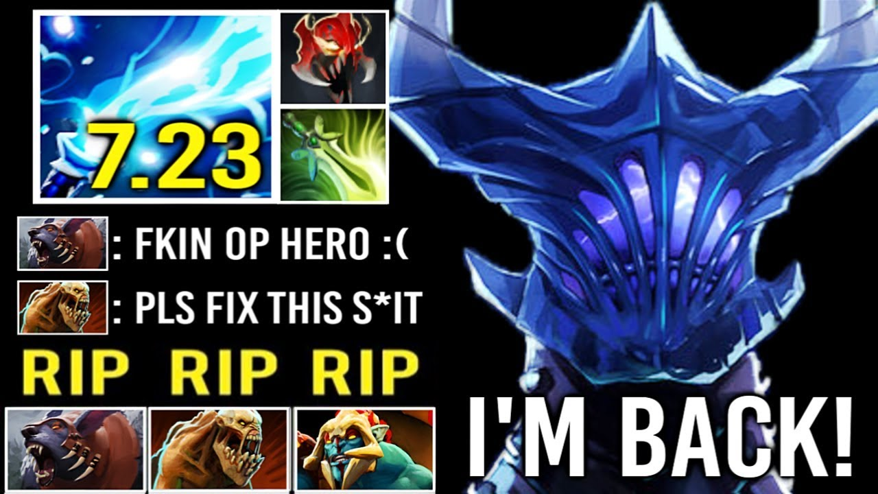 NEW 7.23 IMBA REWORK RAZOR Crazy Steroids Buff Delete Cancer Heroes OP Static Link Max Speed Dota 2