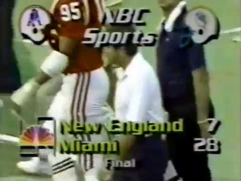 1984 Wk 02 Miami Rips New England 28-7; Highlights With Radio Call