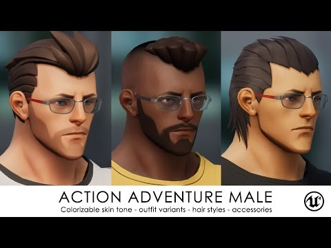 Action Adventure Male for UE4