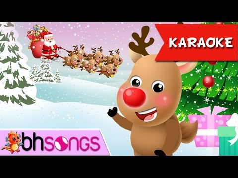 Rudolph The Red Nosed Reindeer Song for Children Karaoke