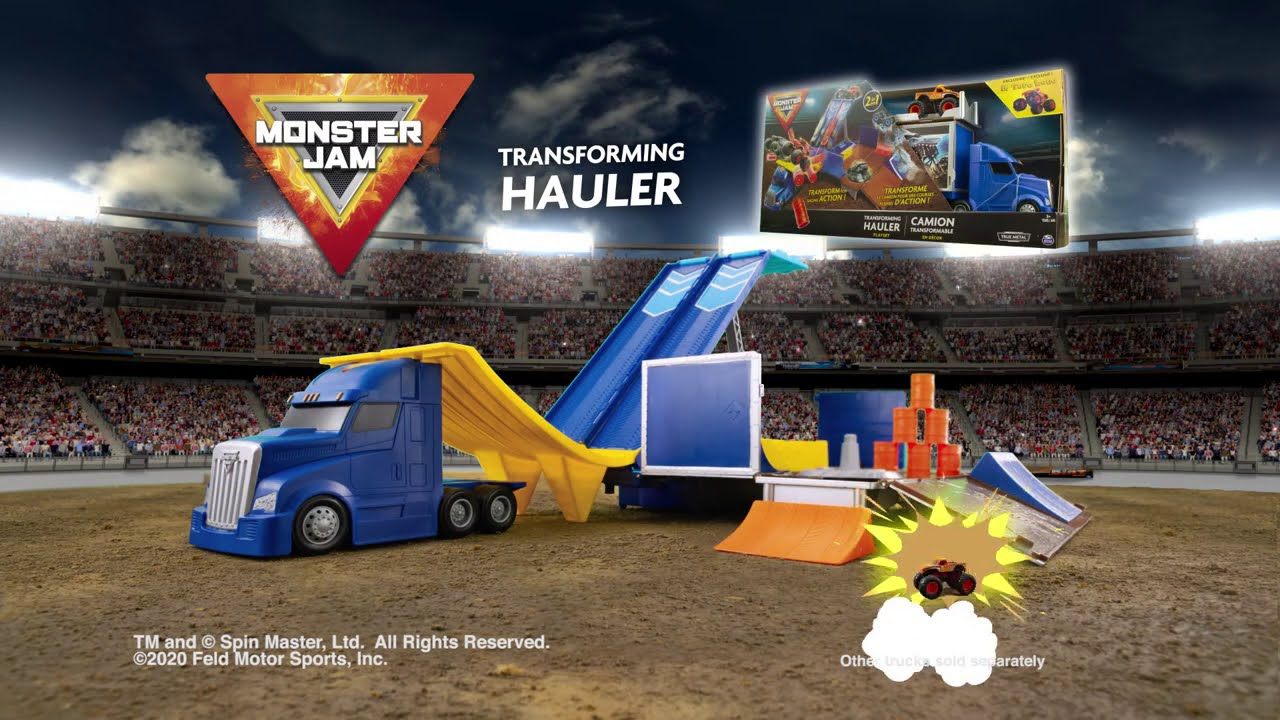 Monster Jam Transforming Hauler Playset