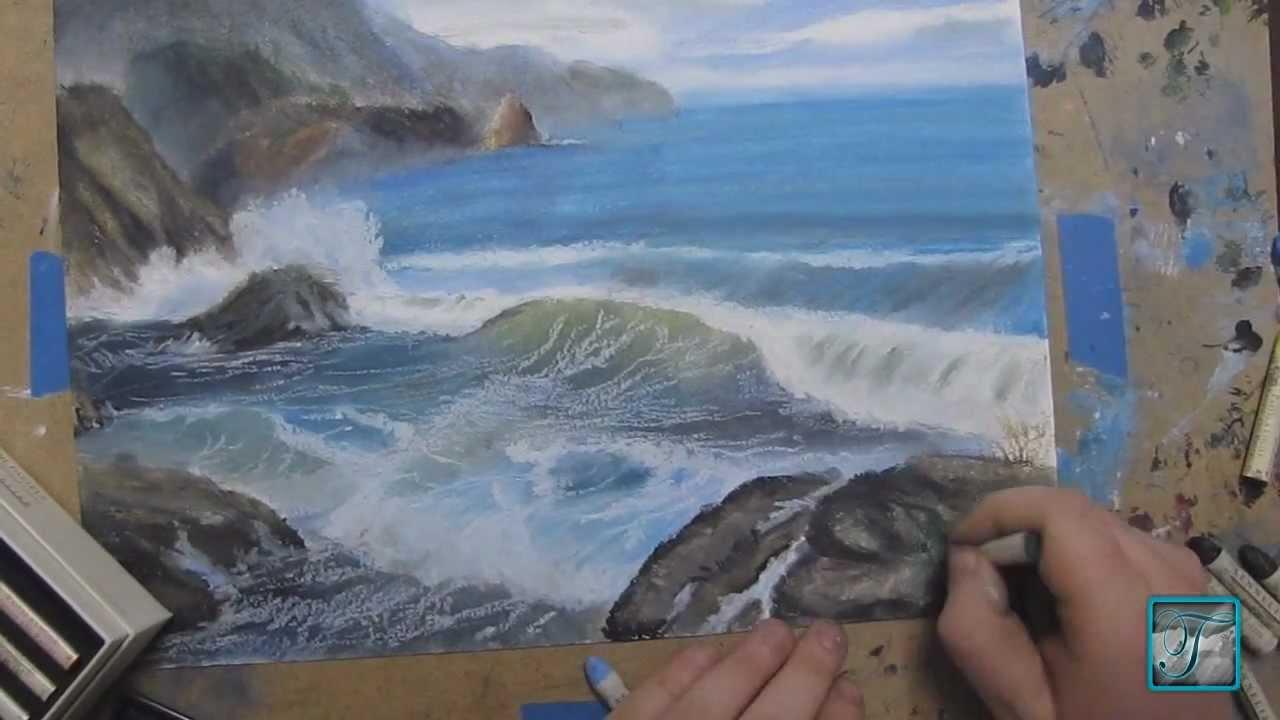 Rocky Beach Speed Drawing Youtube