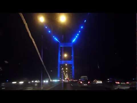 "Oefoeky - Istanbul Bosphorus ""bridge lights"" at night amazing! (01-2013) HD 720p"