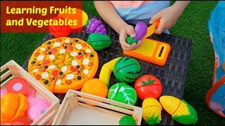 Fun Learning Names of Fruit and Vegetables- Cutting Toy Fruits