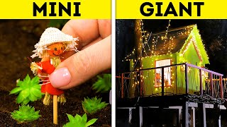 MINI VS. GIANT || Cool DIY House Crafts From Wood, Polymer Clay And Resin