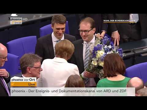 Verkündung der Wahl von Angela Merkel zur Bundeskanzlerin am 14.03.18