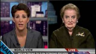 Madeleine Albright corrects Gov. Palins statement