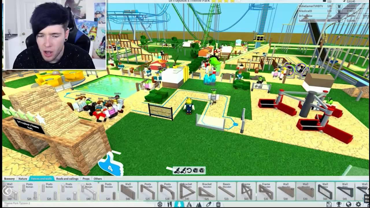 Dantdm Roblox Building My Best Roblox Theme Park Dantdm