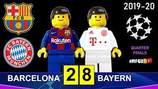 Brick parody of barcelona bayern 2-8 • uefa champions league 2019/20 (quarter-finals) in lego football 2x8 munich fc - ...