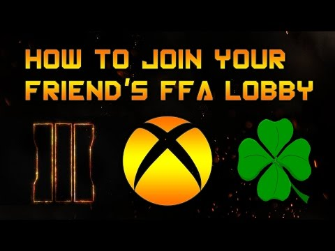 Bo3 Xbox One: How To Join Your Friend's FFA Lobby In Multiplayer [2017]