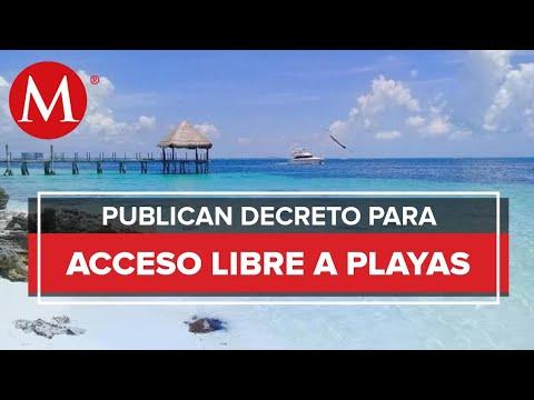 Decretan libre acceso y tránsito en playas del país; habrá multas para quien prohíba el paso