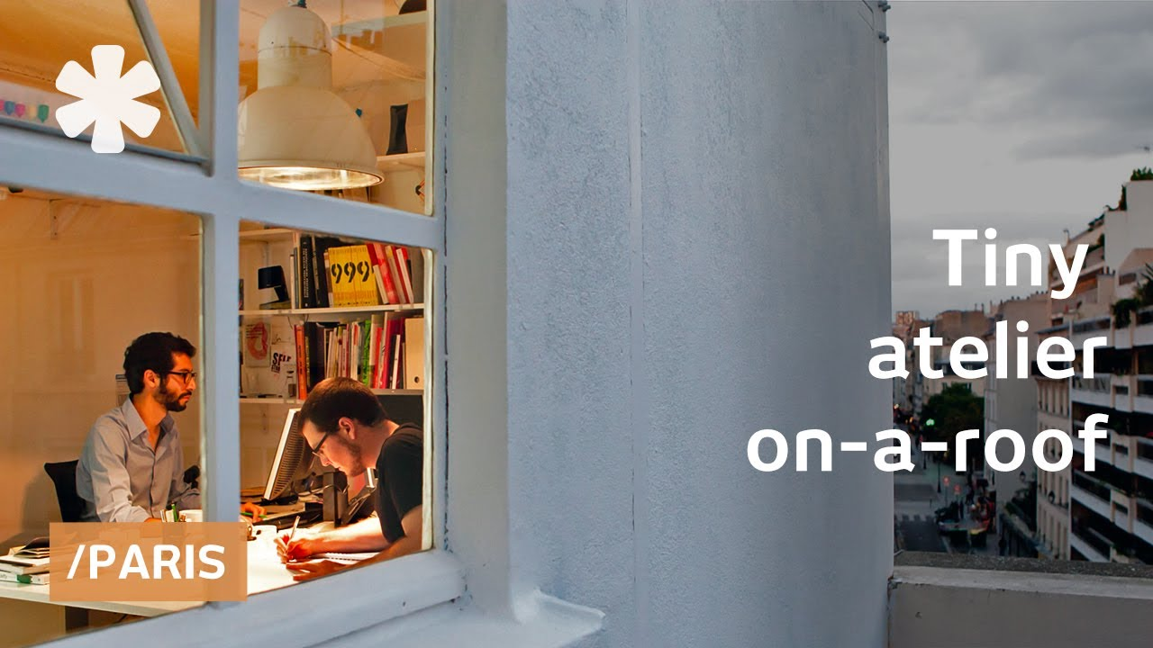tiny office. Tiny Parisian Rooftop Office Transforms For Work \u0026 Leisure