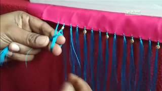 Saree Kuchu/tassel with flower beads-new design with tips