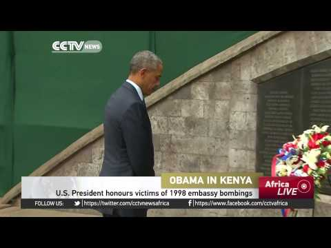 U.S. President Honours Victims Of 1998 Embassy Bombings