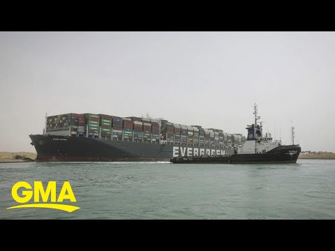 Massive cargo ship blocks world trade at Suez Canal l GMA