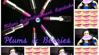 REVIEW: MILANI Color Statement Lipstick Collection 2013 (Plums & Berries) Thumbnail