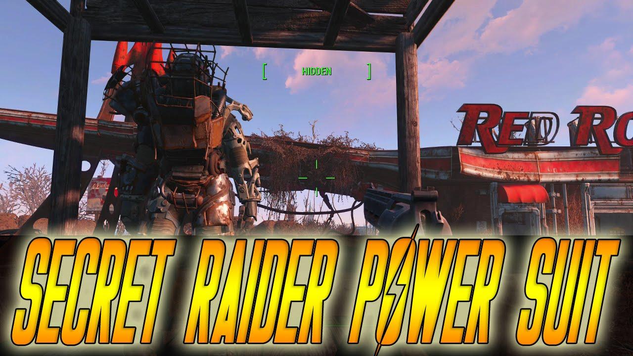 fallout 4 raider power ii secret raider power armor youtube