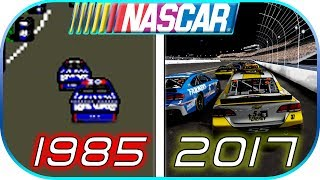 EVOLUTION of NASCAR GAMES in 4 minutes (1985-2017) Video game gameplay and graphic. Heat 2