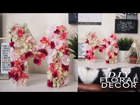 DIY Floral Letter! Super EASY & CHEAP!